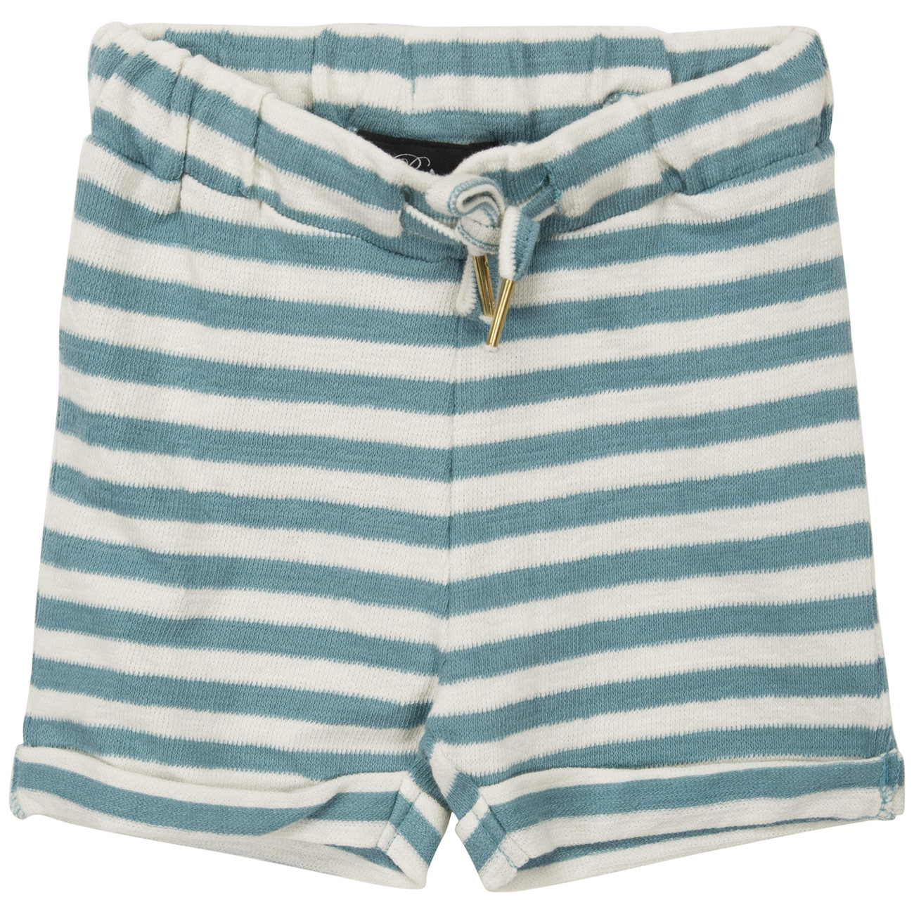 Petit by Sofie Schnoor Off White Aqua Stripe Shorts