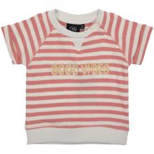 Petit by Sofie Schnoor Pink Off White Stripe T-shirt