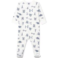 Petit Bateau Night Suit Blue Print White