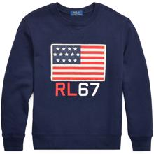 Polo Ralph Lauren Boy Sweatshirt Flag Navy
