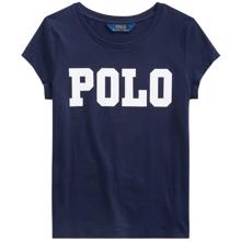 Polo Ralph Lauren Girl Short Sleeved Tee Print French Navy