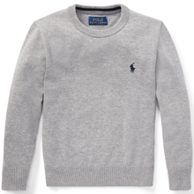 Polo Ralph Lauren Boy Sweater Grey Heather