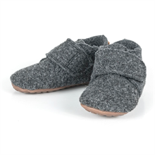 Pom Pom Indoor Shoe Wool Antracite