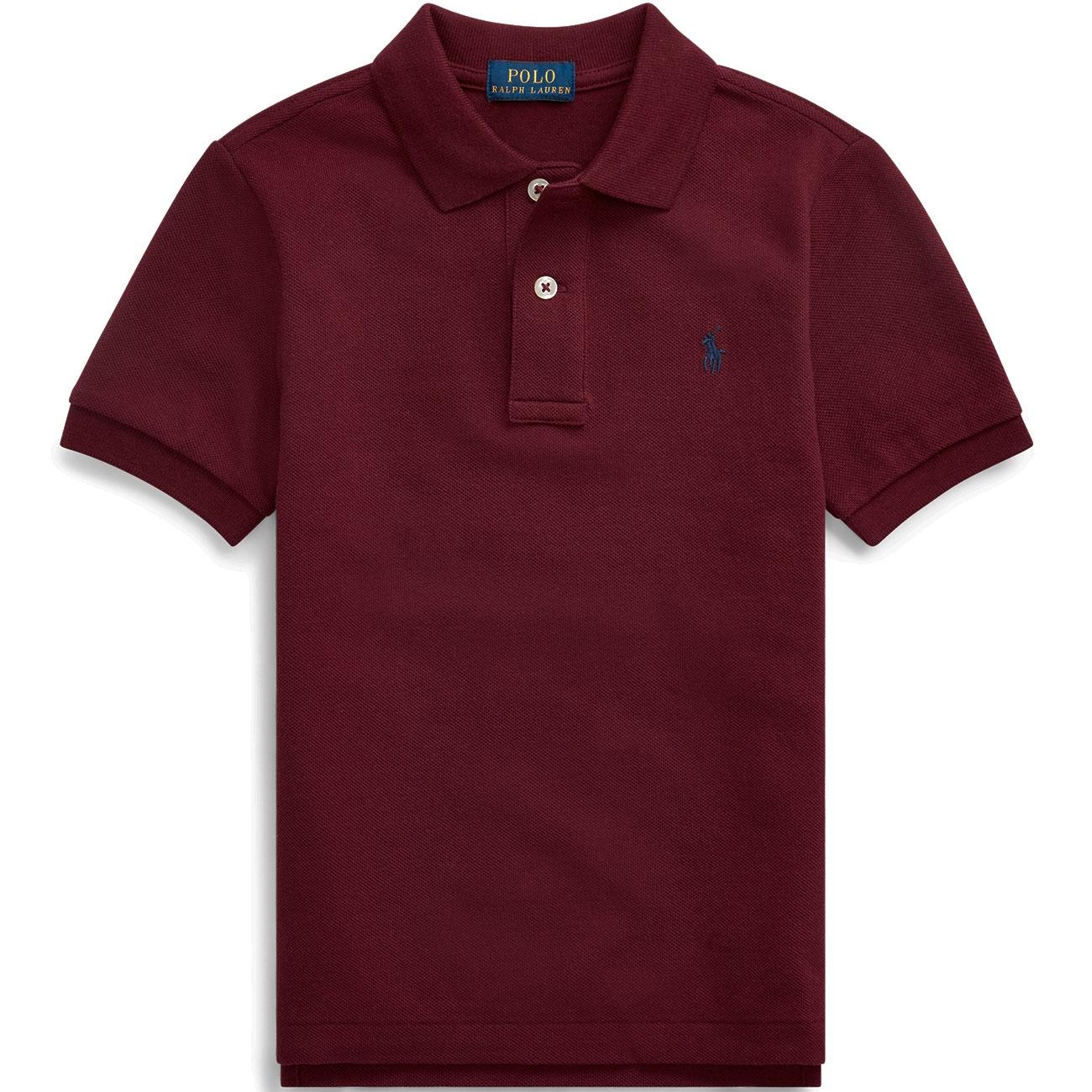 Polo Ralph Lauren Boys Red Burgundy Short Sleeve Polo Shirt