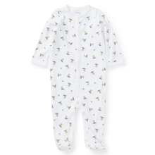 Ralph Lauren Baby Boy Bear Coverall White