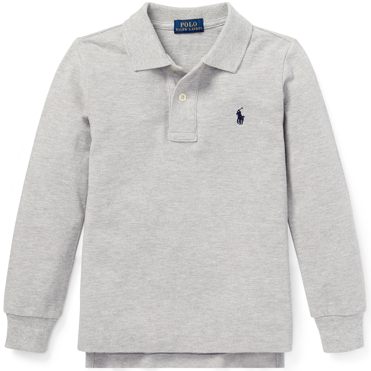ca4521a6 Polo Ralph Lauren Boy Long Sleeve Polo Grey Heather