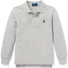 Polo Ralph Lauren Boy Long Sleeve Polo Grey Heather