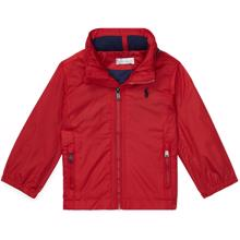 Ralph Lauren Baby Boy Jacket Hooded Windbreaker Red