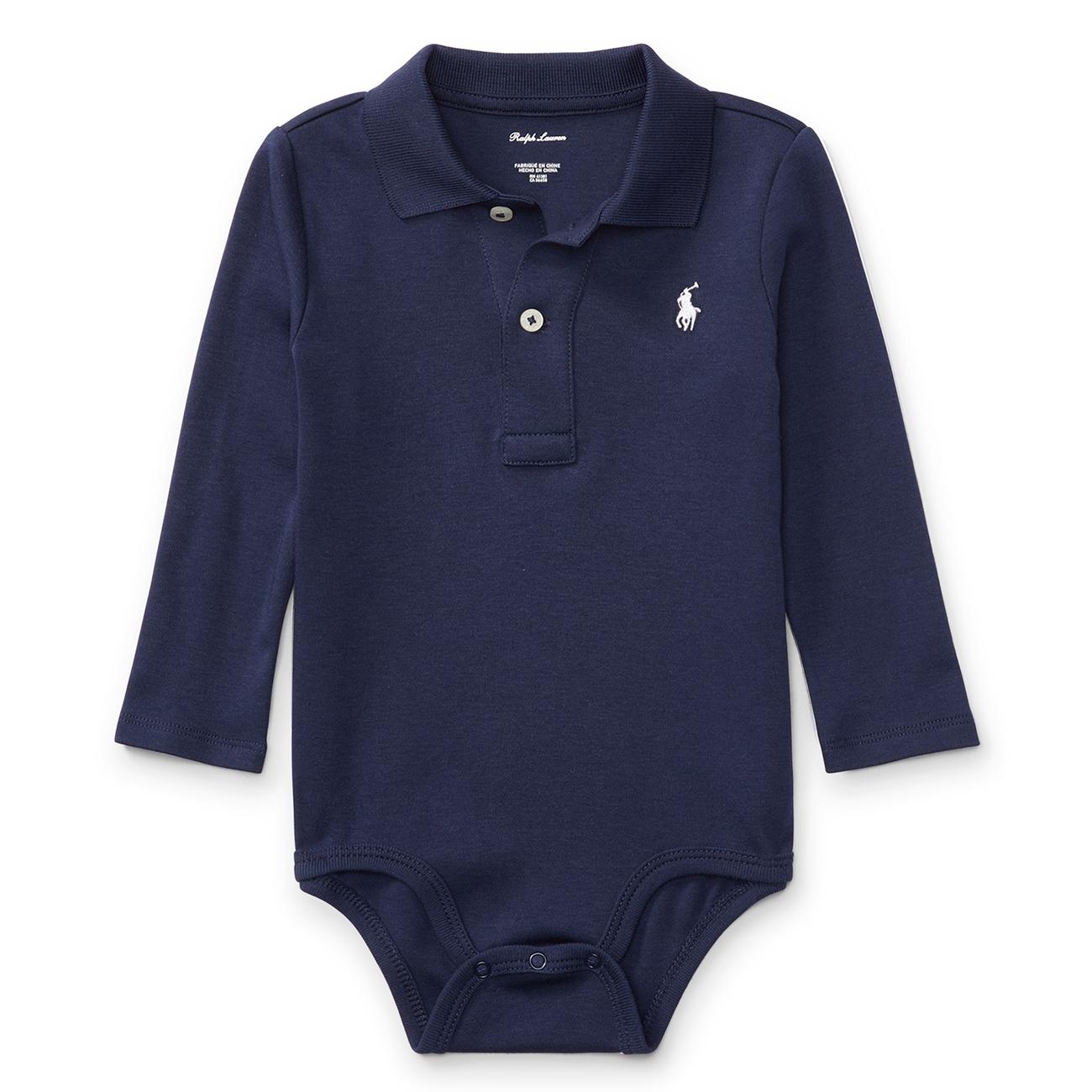 33517208 Ralph Lauren Baby Boy Long Sleeved Body French Navy