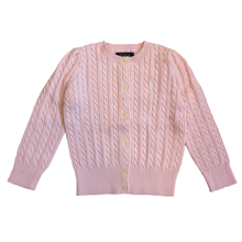 Polo Ralph Lauren Girl Long Sleeved Knit Cardigan Hint of Pink