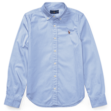 Polo Ralph Lauren Girl Oxford Shirt Blue Hyacinth