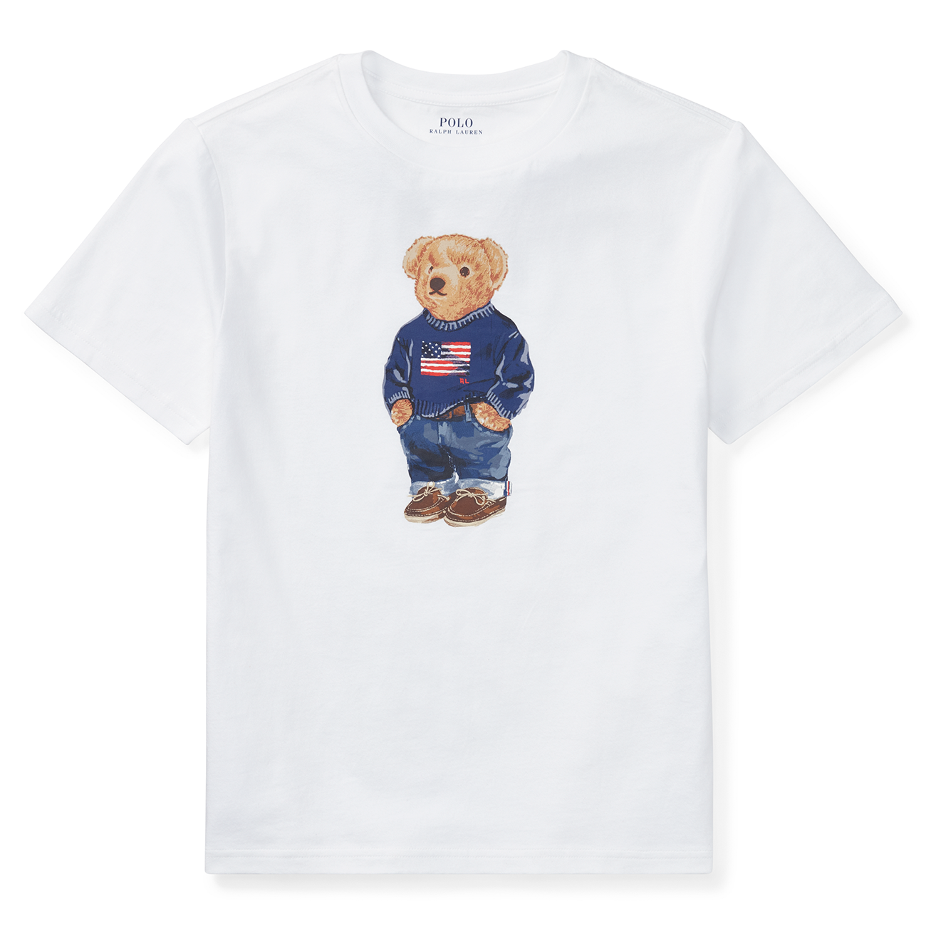 58d6ed41ad5855 Polo Ralph Lauren Boy Short Sleeved T-shirt Bear White