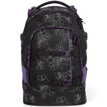 Satch Pack School Bag Reflective Print Ninja Hibiscus