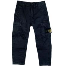 Stone Island Junior Pants Button Navy
