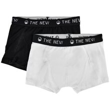 The New Organic Boxers Noos 2-pack Black/White