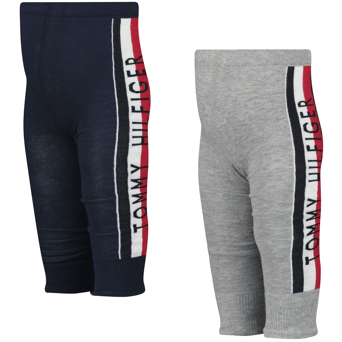 Tommy Hilfiger Baby Tracksuit Leggings 2-pak Light Grey Melange/Navy