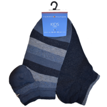 Tommy Hilfiger Boy 2-pack Basic Stripe Sneaker Socks Jeans