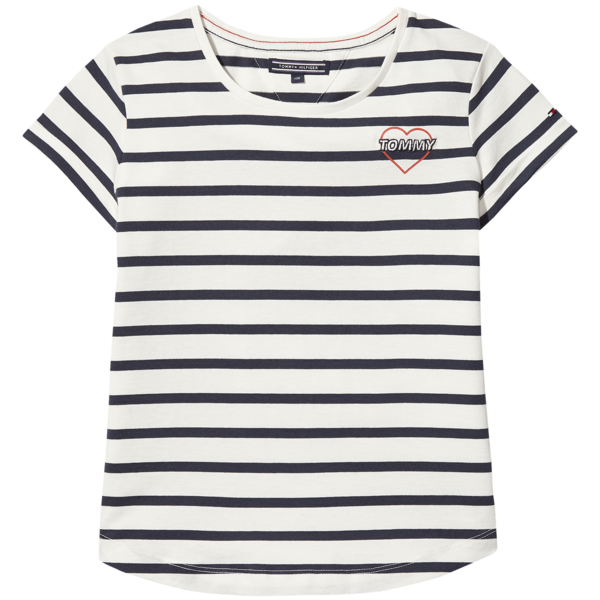 123bc5b7 Tommy Hilfiger Girl Ame Enthusiastic Tee SS