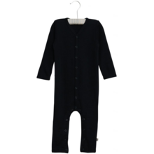 Wheat Baby Wool Navy Plain Jumpsuit
