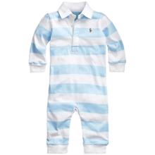 Ralph Lauren Baby Boy Polo Rugby Coverall Blue