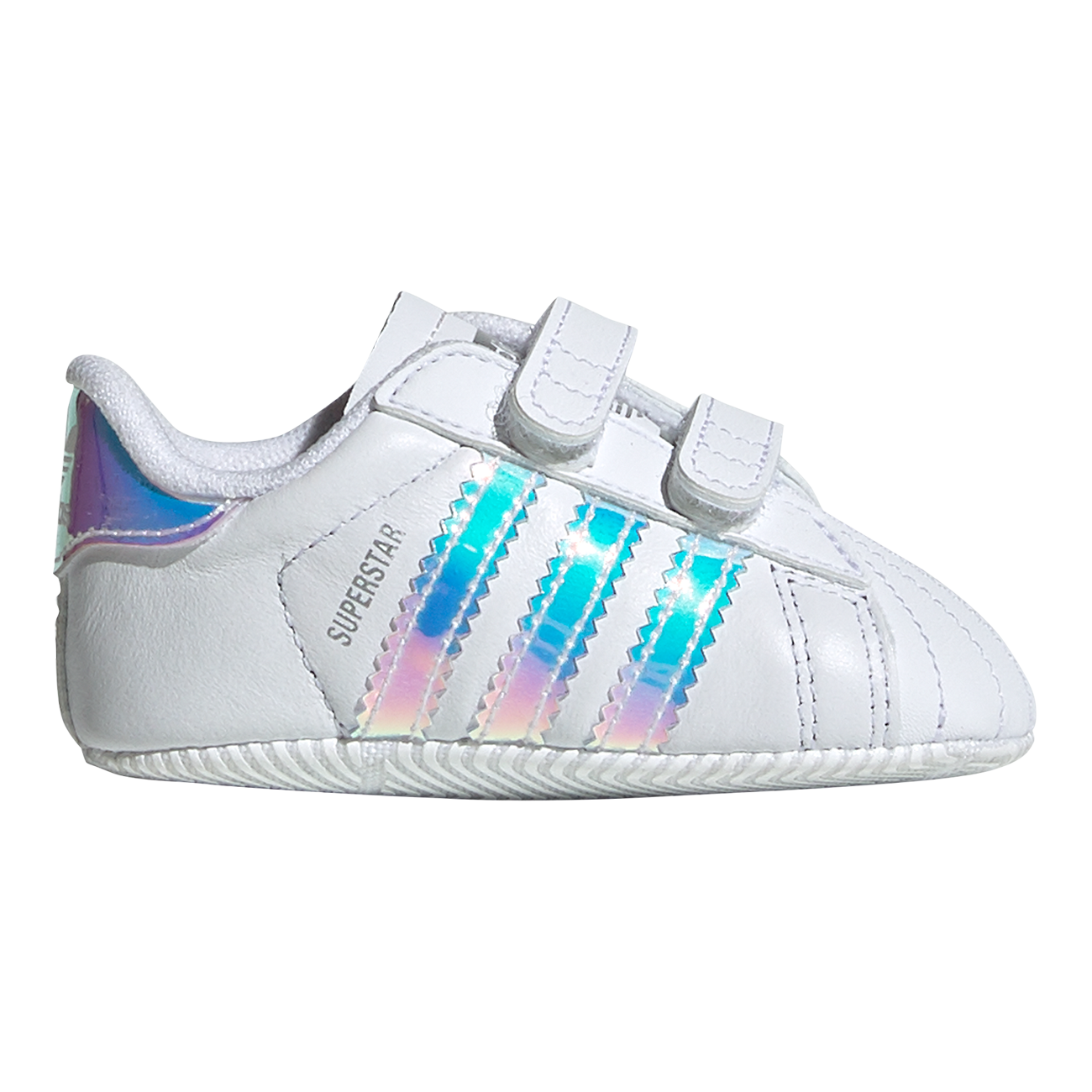 adidas Baby Superstar Crib Sneakers White/Metallic