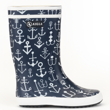 a130602bfc8 Aigle Lolly Pop Wellies Dark Navy Ancres