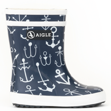 Aigle Baby Flac Wellies Dark Navy Ancres