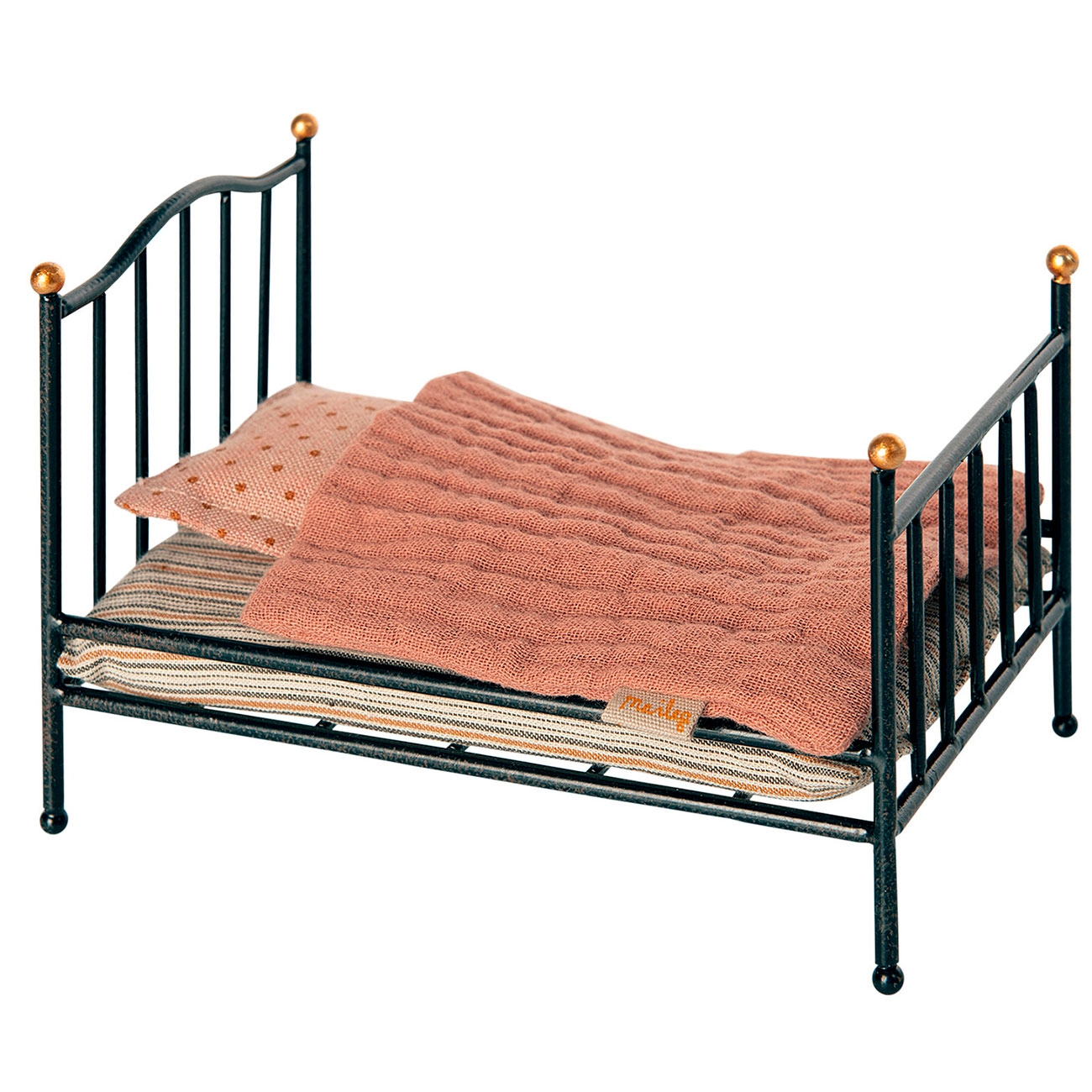 Picture of: Maileg Vintage Bed Anthracite