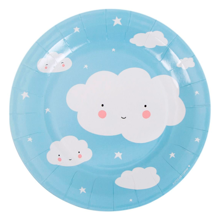 A Little Lovely Company Celebration Plates Clouds 12 pcs