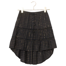 A Monday Alma Skirt Gold Check Black Beauty