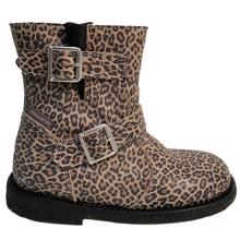 Angulus TEX Boots w. Buckles and Zipper Leopard/Black 7460-101-8745
