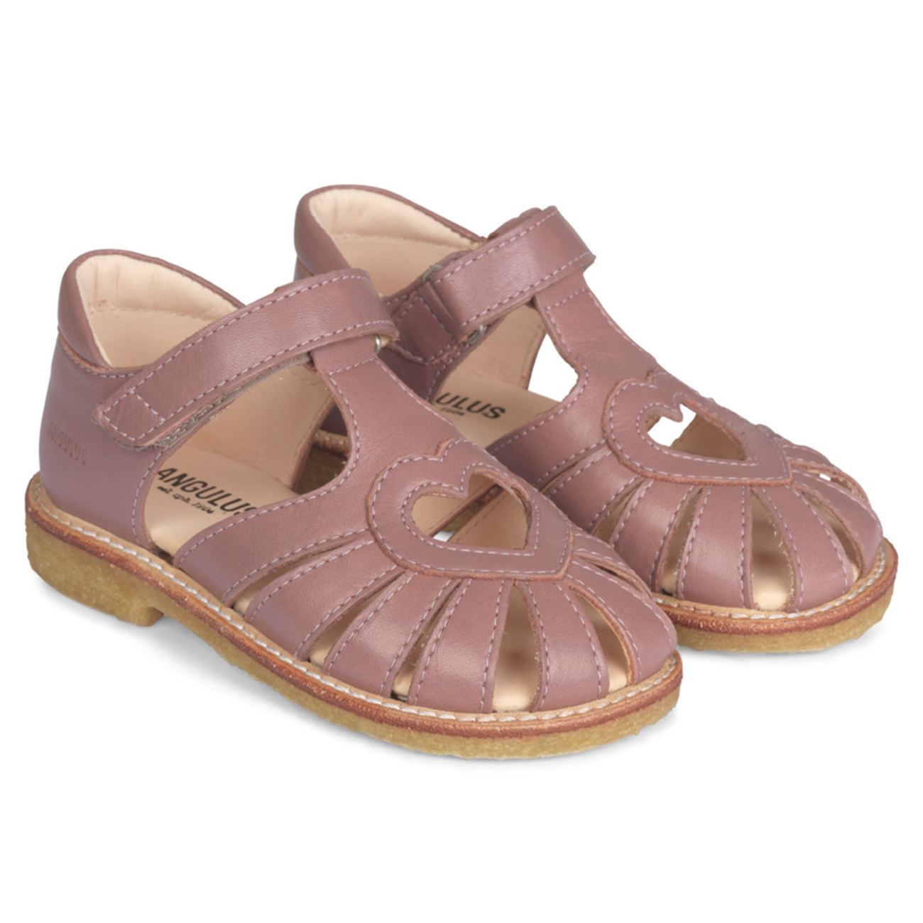 Angulus Sandal w. Closed Toe Plum 5186-101-1524