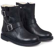 Angulus TEX Boots w. Buckles and Zipper Black 7460-101-0155