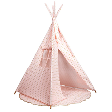 Barrutoys Tipi Pink with Gold Dots