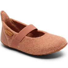 Bisgaard Indoor Shoes Wool Velcro Rose