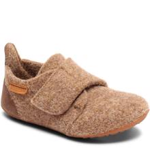 Bisgaard Indoor Shoes Wool Velcro Camel