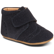 Bisgaard Indoor Shoes Velcro Petit Navy Glimmer