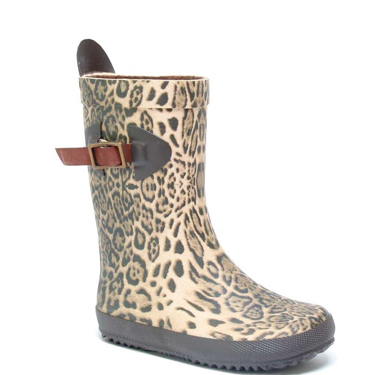 leopard rubber boots