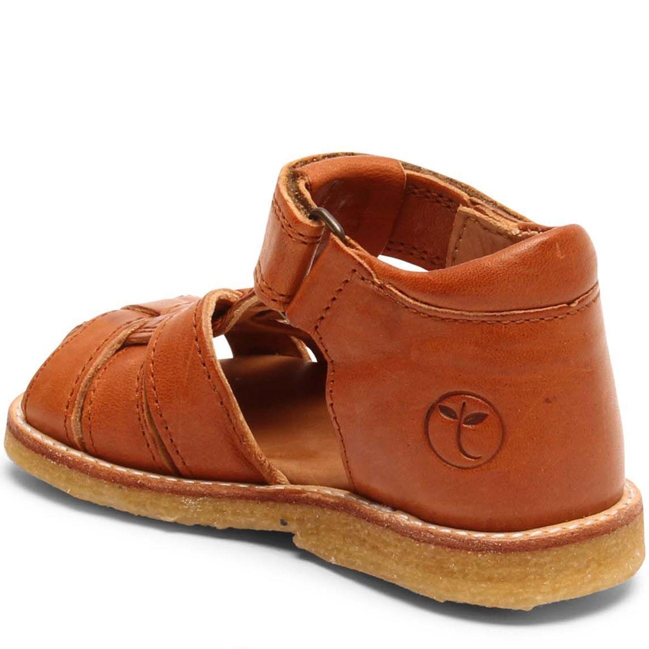 Bisgaard sandal cognac med velcro