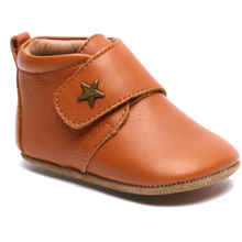 Bisgaard Indoor Shoes Velcro Star 12301 (cognac)