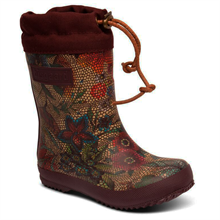Bisgaard Winter Thermo Rubber Boots Flowers/Bordeaux