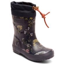 Bisgaard Winter Thermo Rubber Boots Flowers Blue