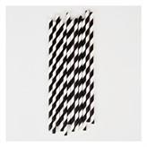 My Little Day 25 Paper Straws (black stripes)