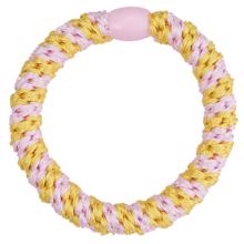 Bow's by Stær Braided Hairties Multi Light Pink/Yellow