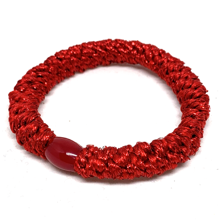 Bow's by Stær Braided Hairties Glitter Red