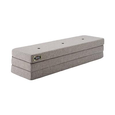 KK 3 Fold XL Multi Grey w. Grey Buttons