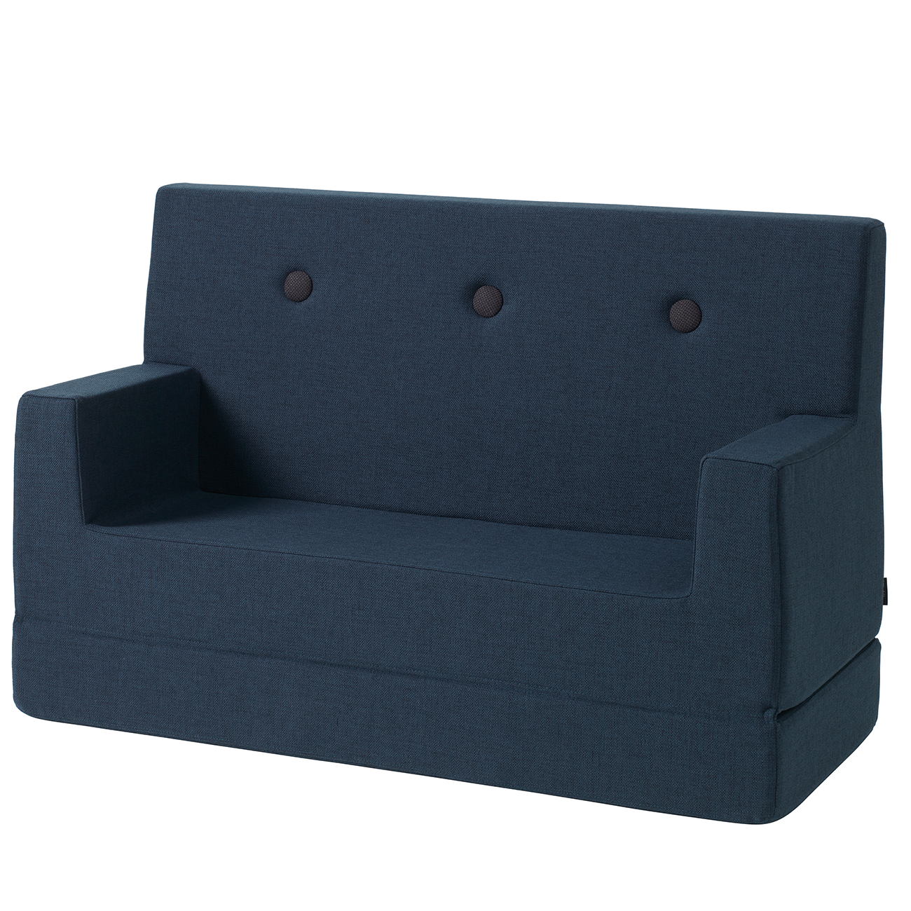 KK Kids Sofa Dark Blue w. Black Buttons