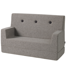 KK Kids Chair Blue Grey w. Green Buttons