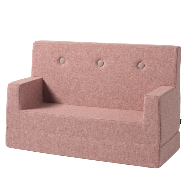 KK Kids Sofa Soft Rose w. Rose Buttons