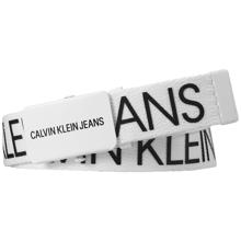 Calvin Klein Canvas Logo Belt Bright White